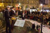 Les Veilleurs place Saint-Michel à Paris le 8 avril 2014